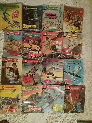 16 commando comics 1970 - 71 all early 5p issues