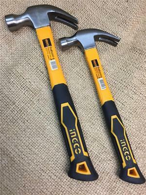 CLEARANCE LINE INGCO CLAW HAMMERS 8oz & 16 oz FIBRE SHAFT RUBBER GRIP TRADE QUAL