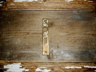 Vtg Chippy Shabby Brass Metal Antique Door Mortise Face Plate, Jewelry Craft Use