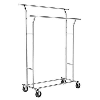 Popamazing Commercial Grade Clothes Rail Heavy Duty Garment Racks AdjustableHeig