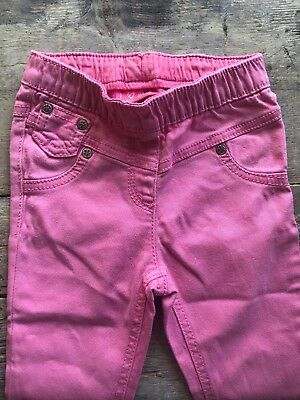 Bright Pink Girls Jeans From Next. 12-18 Months
