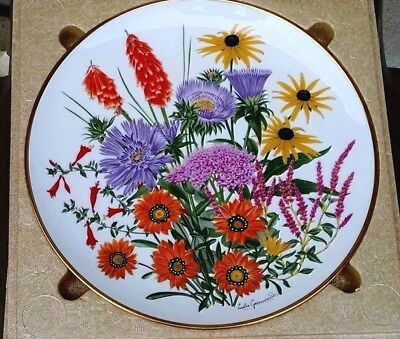 Franklin Mint Flowers Of The Year Porcelain Plate By Wedgwood – September