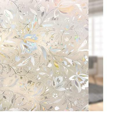 Rabbitgoo 3D window film Static Decorative Privacy AntiUV Frosted Floral flowers