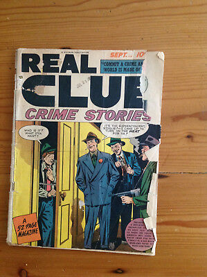 Hillman Real Clue Crime Stories Vol 3 No. 7 Mike Roy, Charles Raab, Gershwin 1st