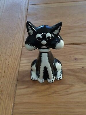Lorna Bailey  signed Sylvester black and white cat- signed- excellent condition
