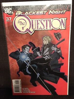 The Question Issue 37 Blackest Night NM DC