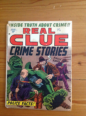 Hillman Real Clue Crime Stories Vol 7 No. 5 Mike Roy, Dick Briefer, Prentice