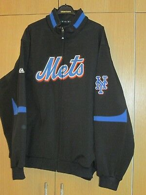 New York Mets Majestic Jacket Mens Size XXL 2XL Therma Base On Field Authentic