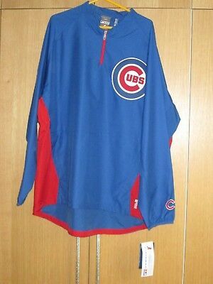Chicago Cubs Majestic Authentic Cool Base Zip Pullover Jacket - size 2XL XXL