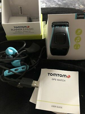 TomTom Runner 2 - Music -  Cardio - HP -  Blue - Large GPS Sports Watch