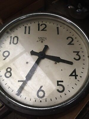 vintage smiths wall clock