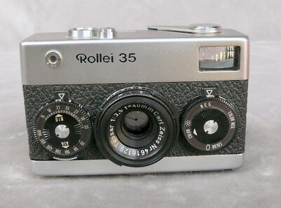Rollei 35, chrom, Made in Germany, sehr schön. Nr.: 3041003