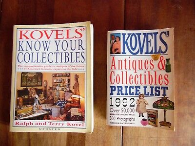 2 Kovel's Know Your Collectibles & Antiques Book By Ralph & Terry Kovel 1981 92