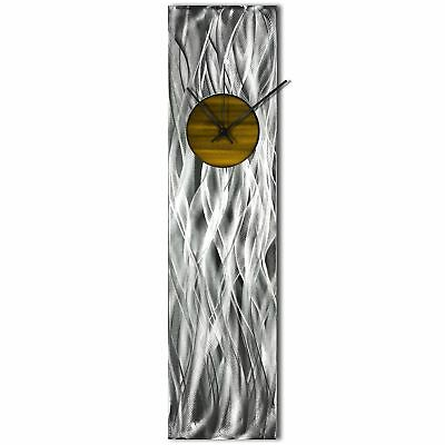 Modern Wall Clock Silver Home Decor Gold Metal Wall Art Abstract Kitchen Clock