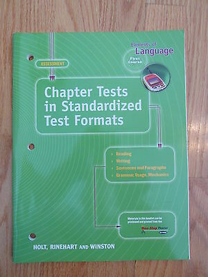 ELEMENTS OF LANGUAGE: FIRST COURSE 7th GRADE CHAPTER TESTS HOLT ISBN # 0-03-0563