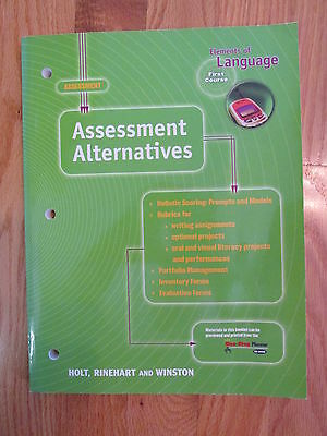 ELEMENTS OF LANGUAGE: FIRST COURSE 7th GRADE ASSESSMENT HOLT ISBN # 0-03-057573-