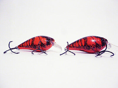 wonderful pair of vintage 1960's 70's red fishing lures from collection