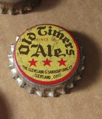 Old Timers Ale Unused Cork Beer Cap Cleveland Sandusky Brewing Ohio