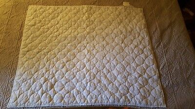 Restoration Hardware Child and Baby Pinwheel Quilted Voile Quilt Toddler, blue