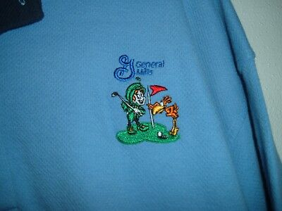 General Mills Lucky Charms and Cuckoo Bird Golf Adult XL Polo Shirt