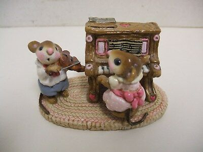 1978 Wee Forest Folk Piano Violin Mouse Duet M-029 Retired