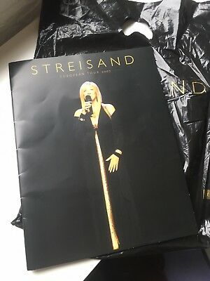 Barbra Streisand Tour 2007 Programme With Carrier Bag