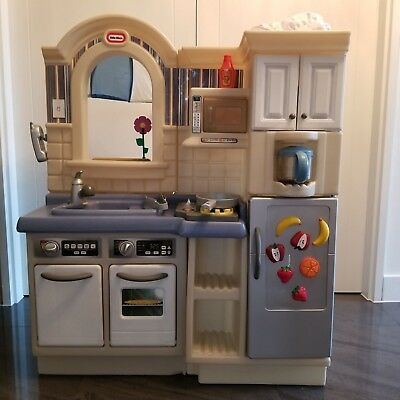 Little Tikes Inside Outside Cook N Grill Kitchen 25 00 Picclick Uk