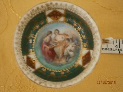 Very Interesting Old China or Porcelain Tea Cup ~ Hand Painted, Gilded & Signed
