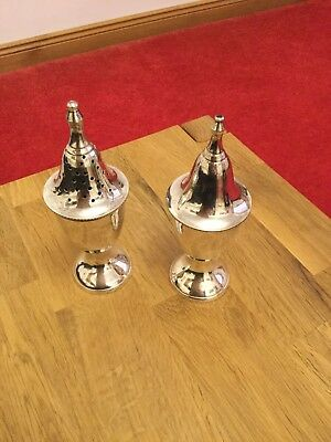 Silver Plated Salt And Pepper Large