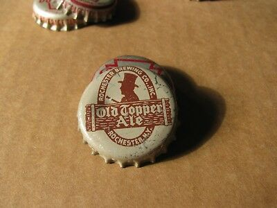 Old Topper  Ale  Rochester New York Cork Beer Cap Silver  Version