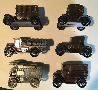 Vintage LOT of 5 Car/Truck Coin Banks, Brass