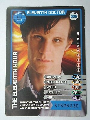 Monster Invasion Super Rare Dr Who Card 006 Eleventh Doctor