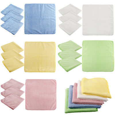 4 / 5 Pack Microfibre Cloths Blue Microfiber Large Washable Cleaning Cloth