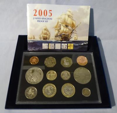2005 Uk Proof Coin Collection - Original Box & Certificated Booklet