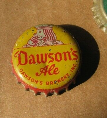 Dawson's Ale Fit For A King Cork Beer Cap New Bedford Massachusetts Mass Ma