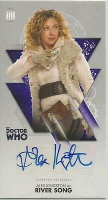 DOCTOR DR. WHO THE TENTH DOCTOR ADVENTURES autograph trading card  ALEX KINGSTON