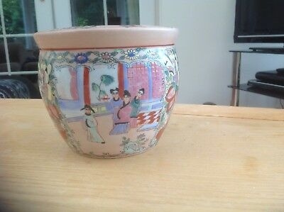 Chinese Famille Rose Planter/Fish Bowl.