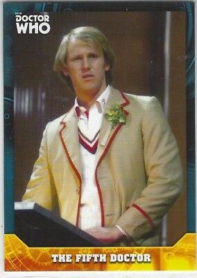 Doctor Who Signature Series base card #5 THE FIFTH DOCTOR (2017) Topps