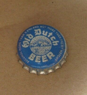 Old Dutch Cork Beer Cap Findlay Ohio State Of Ohio Tax