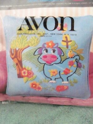 avon blue moo cow soap on a rope vintage with original box unused