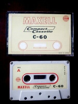 CASSETTE TAPE BLANK SEALED - 1x (one) MAXELL C-60 [1967-69] made in Japan RARE