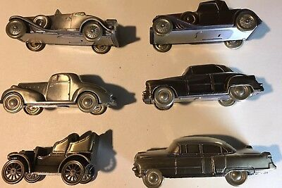 Vintage LOT of 6 Car  Coin Banks, Brass
