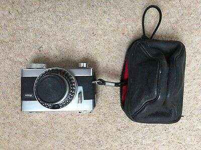 Ricoh Auto Shot Camera With Rixenon 35mm 1:28 Lens And Case.