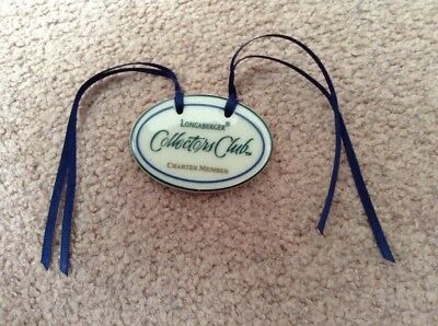 Longaberger Collector's Club Charter Member Basket Tie-On~~With Blue Ribbons