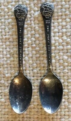 2 silver Plated spoons, New York World's Fair 1964 1965