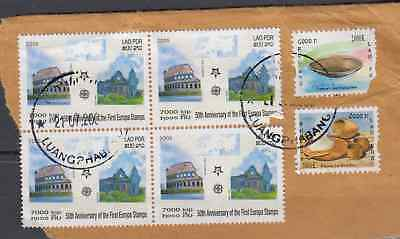 Laos 2005 Europa Stamps Commercially Used On Piece