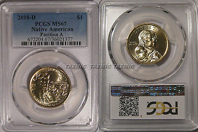 2018 D Native Sacagawea Dollar $1 PCGS MS67 Position A