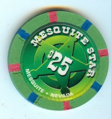Obsolete 1998 Mesquite Star Hotel Casino Mesquite Nevada $25 Chip - Great!!