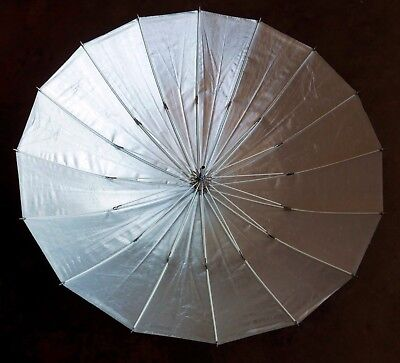 """Paul C Buff 51"""" Silver-Lined PLM Umbrella with Black Outer Cover"""