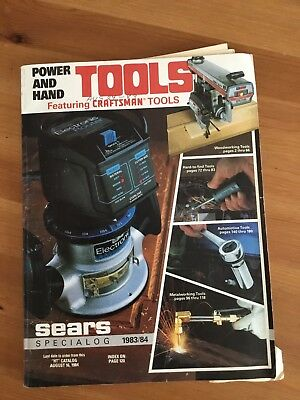 Vintage SPECIALOG 1983/84 SEARS POWER & HAND TOOLS CATALOG